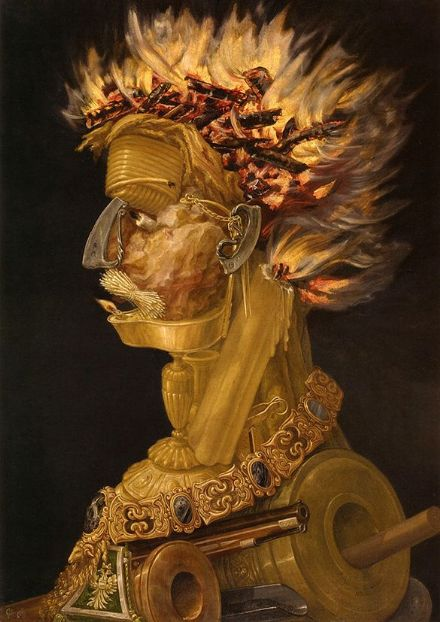 Arcimboldo, Giuseppe: The Fire. Fine Art Print/Poster. Sizes: A4/A3/A2/A1 (002637)